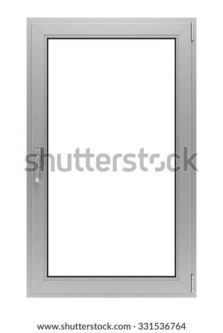 White Window Frame Isolated On White Background Ez Canvas