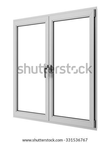 gray metallic window isolated on white background #331536767