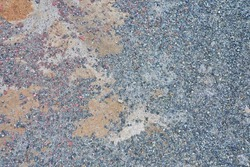 Gray old stone road surface. Seamless Texture. The texture of a stone road. High quality photo