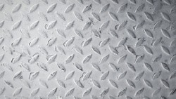 Gray or grey stainless steel background Seamless pattern of rust iron wall or wallpaper in black and white tone or monochrome. Textured or grunge panel and Hard material concept.