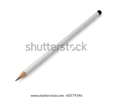 gray pencil on white background