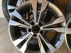 Gray rims from Mercedes Benz