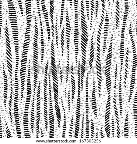 Gray scale strips hand drawn seamless pattern