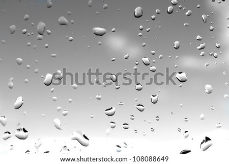 Gray Silver Water Drops Abstract Background