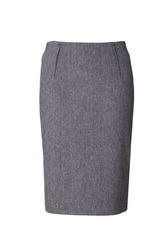Gray skirt isolated on white background