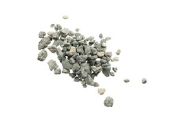 Gray small rocks ground texture isolated white background. black small road stone. gravel pebbles stone seamless texture. dark background of crushed granite gravel, close up. clumping clay