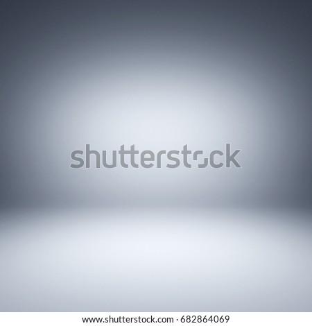 Gray spotlight background. Empty gray studio. 3D illustration.