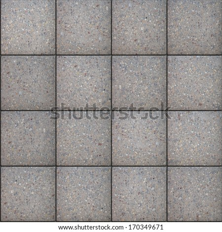 Gray Square Pavement. Seamless Tileable Texture.