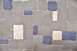 gray stone background, background tiles from rectangular stones, texture close-up
