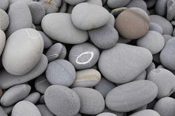 Gray stone background - pebble stones texture