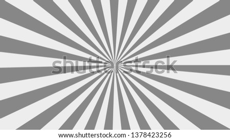 gray Sunburst pattern. sunrise background. Radial rays background. Retro sunburst background template