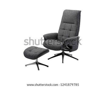 gray swivel chair and foot rest  #1241879785