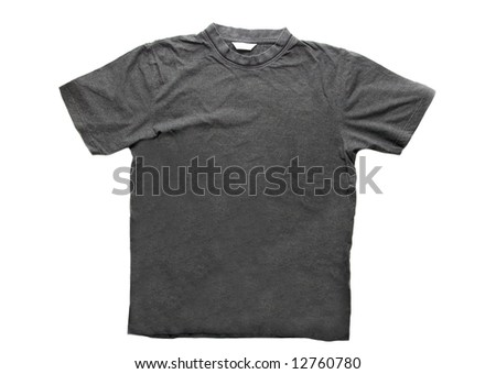 Gray T-shirt isolated on white