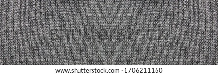 Gray texture fabric background of empty seamless woven cloth pattern. Blank casual backdrop design of pale dark gray textured material, template banner or horizontal wallpaper Foto stock ©