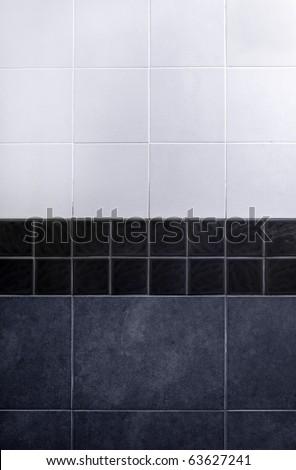 gray tile wall .