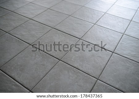 Gray Tiled Floor
