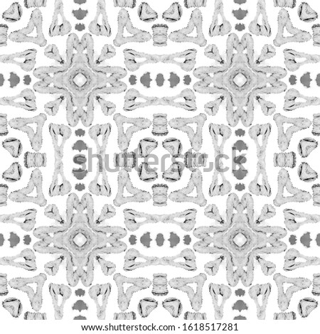 Gray Traditional Mosaic. Vintage Patchwork Tile. Monochrome Decor. Monochrome Decor Tiles. Ethnic Ornament. Marrakech Ceramic. Gray Ethnic Africa.