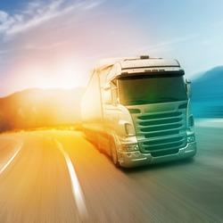 Gray truck on highway