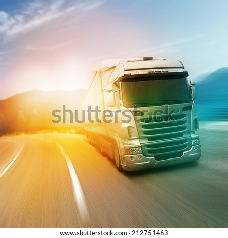 Gray truck on highway