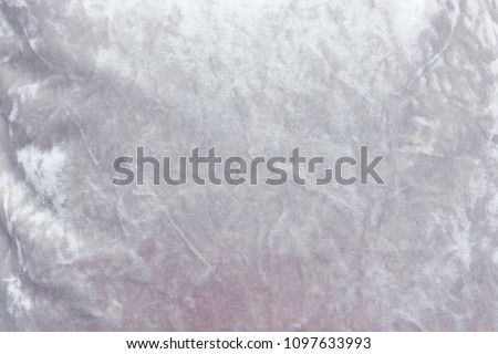 Gray velvet background or velor texture of cotton or wool with soft fluffy velvety fabric. #1097633993