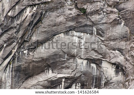 Gray weathered granitic rock in the mountains #141626584