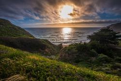 Gray Whale Cove State Beach California Landscape