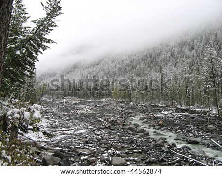 gray winter mountains