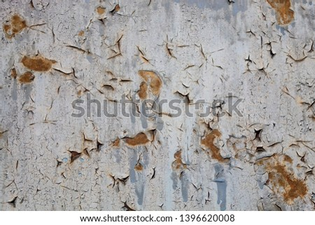 Grayish Old Weathered Rusty Metal Texture #1396620008
