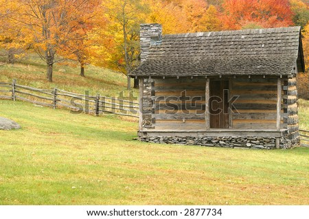Grayson Highlands State Park Cabin in Autumn