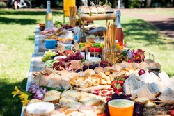 Grazing table in the park