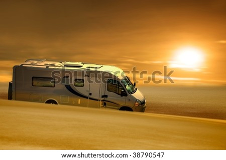 grease van in desert