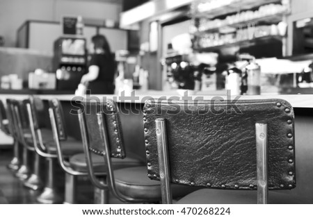 Greasy and Old Vintage Diner Stock photo ©
