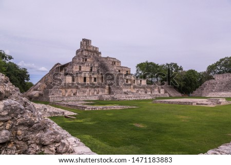 Great Acropolis It is a large space with a quadrangular plan on which several monumental structures are built, such as the Five Story Building. #1471183883