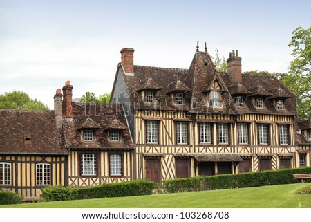 great and ancient house in Normandy France