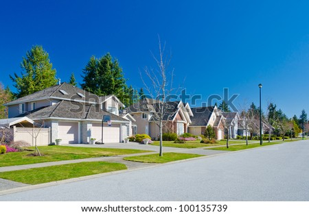 Great and comfortable neighborhood in the suburbs of Vancouver. Canada.
