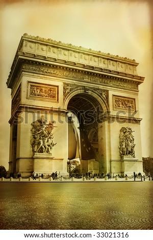 Great architecture - Arc-de-triumph - artistic style picture