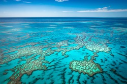 Great barrier reef from air