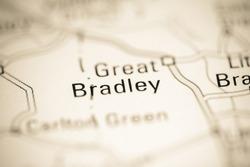Great Bradley. United Kingdom on a geography map