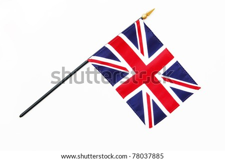 Great Britain British Flag on Pole