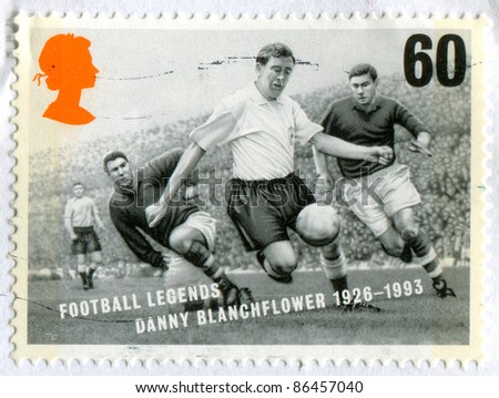 GREAT BRITAIN - CIRCA 1996: stamp printed by Great Britain, shows soccer, circa 1996 - stock photo