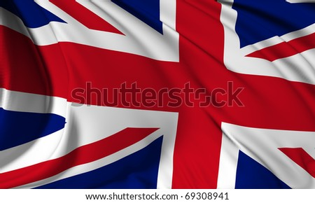 Great Britain flag HI-RES collection #69308941