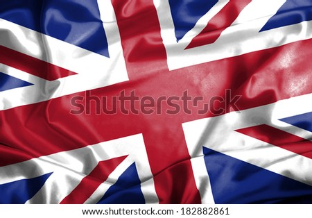 Great Britain waving flag #182882861