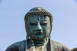 great buddha (Daibutsu) sculpture, Kamakura, tokyo, japan