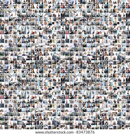 Great business collage made of about 1000 pictures - stock photo