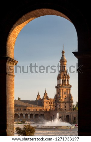 Great city scape in Seville , Spain #1271933197