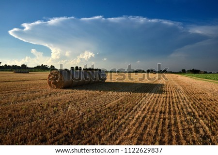 great cloud developed over the countryside