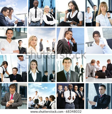 Great collage made of many business pictures - stock photo