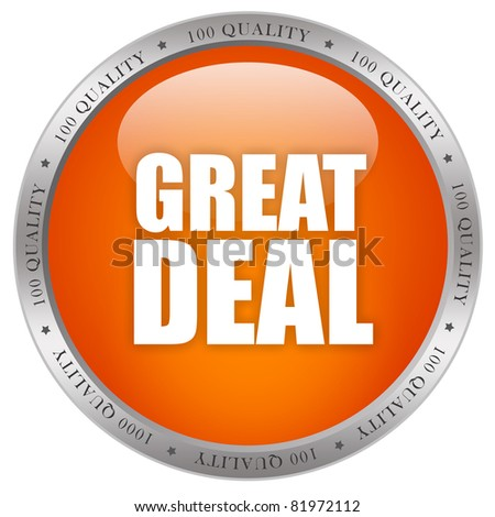 Great deal icon - stock photo