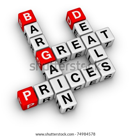 great deals and bargain prices - stock photo