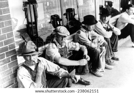 Great Depression Unemployed Men 1930's